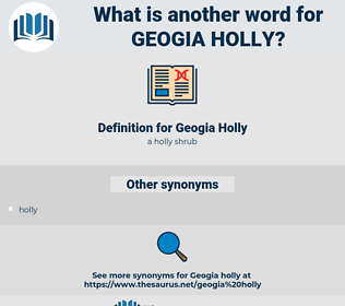 Geogia Holly, synonym Geogia Holly, another word for Geogia Holly, words like Geogia Holly, thesaurus Geogia Holly