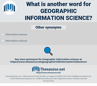 geographic information science, synonym geographic information science, another word for geographic information science, words like geographic information science, thesaurus geographic information science