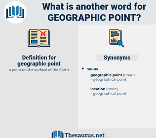 geographic point, synonym geographic point, another word for geographic point, words like geographic point, thesaurus geographic point