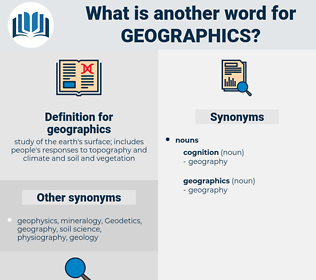 geographics, synonym geographics, another word for geographics, words like geographics, thesaurus geographics