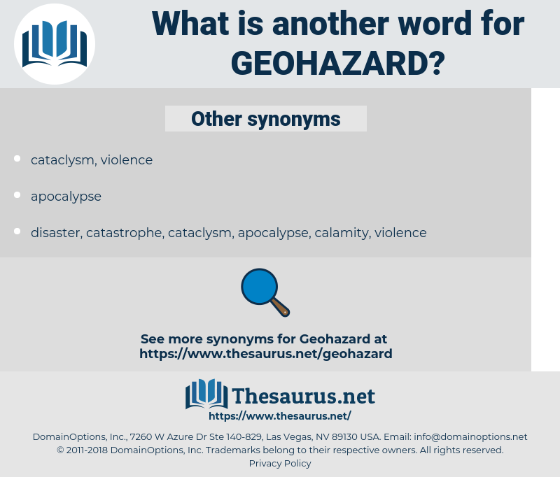 geohazard, synonym geohazard, another word for geohazard, words like geohazard, thesaurus geohazard