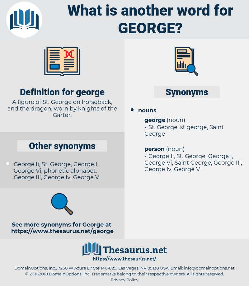 george, synonym george, another word for george, words like george, thesaurus george