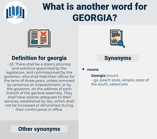 georgia, synonym georgia, another word for georgia, words like georgia, thesaurus georgia