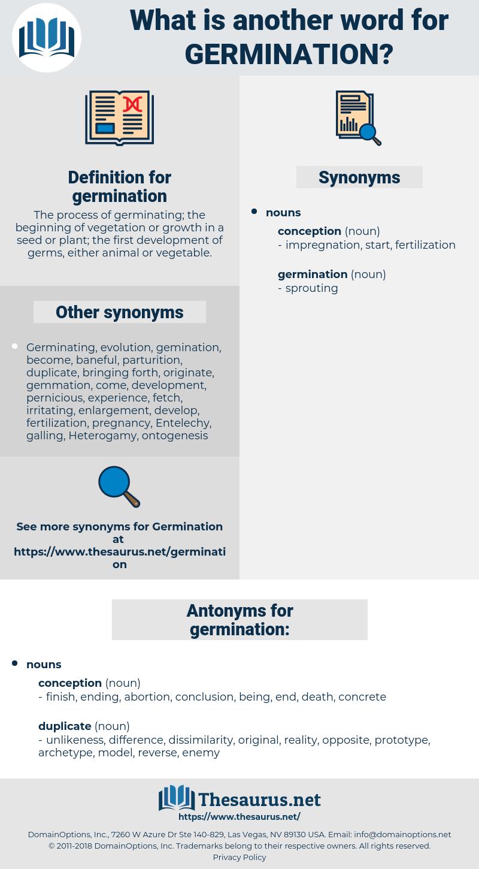 germination, synonym germination, another word for germination, words like germination, thesaurus germination