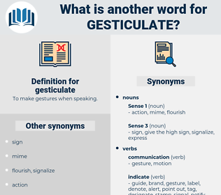 gesticulate, synonym gesticulate, another word for gesticulate, words like gesticulate, thesaurus gesticulate
