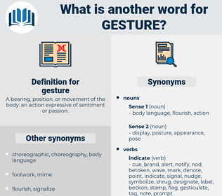 gesture, synonym gesture, another word for gesture, words like gesture, thesaurus gesture