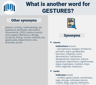 Gestures, synonym Gestures, another word for Gestures, words like Gestures, thesaurus Gestures