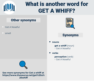 get a whiff, synonym get a whiff, another word for get a whiff, words like get a whiff, thesaurus get a whiff