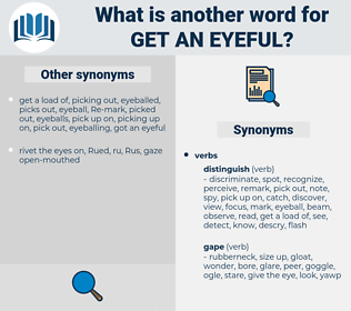 get an eyeful, synonym get an eyeful, another word for get an eyeful, words like get an eyeful, thesaurus get an eyeful