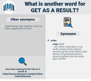 get as a result, synonym get as a result, another word for get as a result, words like get as a result, thesaurus get as a result
