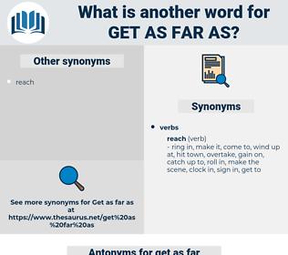 get as far as, synonym get as far as, another word for get as far as, words like get as far as, thesaurus get as far as