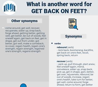 get back on feet, synonym get back on feet, another word for get back on feet, words like get back on feet, thesaurus get back on feet