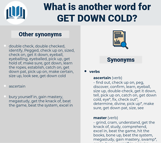 get down cold, synonym get down cold, another word for get down cold, words like get down cold, thesaurus get down cold