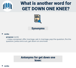 get down one knee, synonym get down one knee, another word for get down one knee, words like get down one knee, thesaurus get down one knee