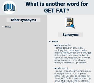 get fat, synonym get fat, another word for get fat, words like get fat, thesaurus get fat