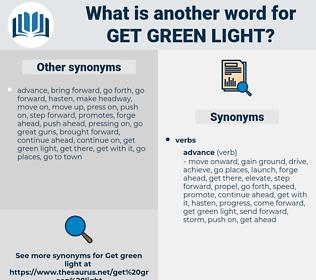 get green light, synonym get green light, another word for get green light, words like get green light, thesaurus get green light