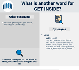 get inside, synonym get inside, another word for get inside, words like get inside, thesaurus get inside