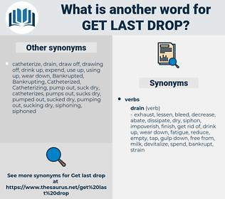 get last drop, synonym get last drop, another word for get last drop, words like get last drop, thesaurus get last drop