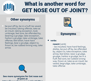 get nose out of joint, synonym get nose out of joint, another word for get nose out of joint, words like get nose out of joint, thesaurus get nose out of joint