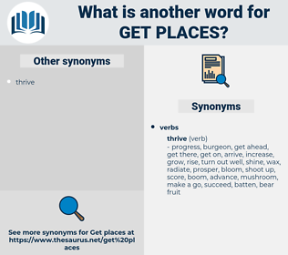 get places, synonym get places, another word for get places, words like get places, thesaurus get places