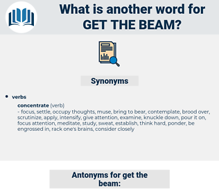 get the beam, synonym get the beam, another word for get the beam, words like get the beam, thesaurus get the beam