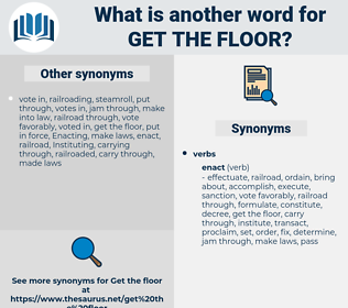 get the floor, synonym get the floor, another word for get the floor, words like get the floor, thesaurus get the floor