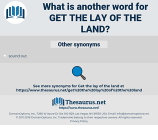 get the lay of the land, synonym get the lay of the land, another word for get the lay of the land, words like get the lay of the land, thesaurus get the lay of the land