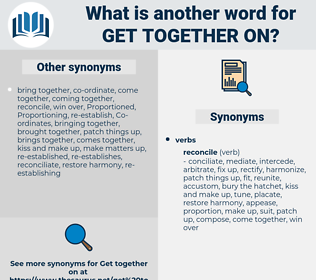 get together on, synonym get together on, another word for get together on, words like get together on, thesaurus get together on