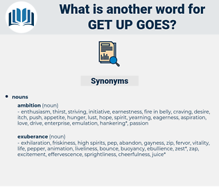 get up goes, synonym get up goes, another word for get up goes, words like get up goes, thesaurus get up goes