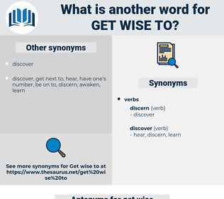get wise to, synonym get wise to, another word for get wise to, words like get wise to, thesaurus get wise to