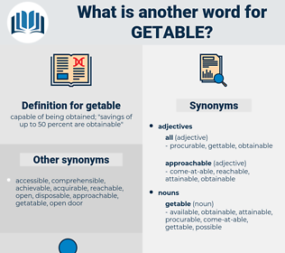 getable, synonym getable, another word for getable, words like getable, thesaurus getable