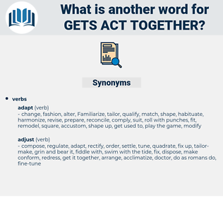 gets act together, synonym gets act together, another word for gets act together, words like gets act together, thesaurus gets act together