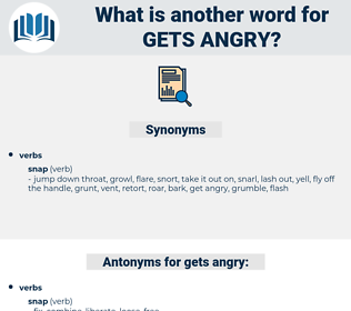 gets angry, synonym gets angry, another word for gets angry, words like gets angry, thesaurus gets angry