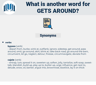 gets around, synonym gets around, another word for gets around, words like gets around, thesaurus gets around