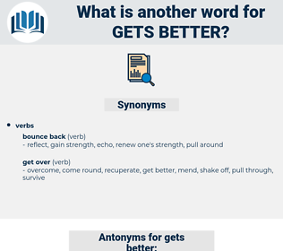 gets better, synonym gets better, another word for gets better, words like gets better, thesaurus gets better