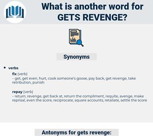 gets revenge, synonym gets revenge, another word for gets revenge, words like gets revenge, thesaurus gets revenge