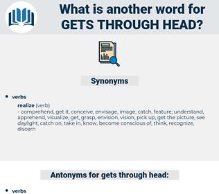 gets through head, synonym gets through head, another word for gets through head, words like gets through head, thesaurus gets through head