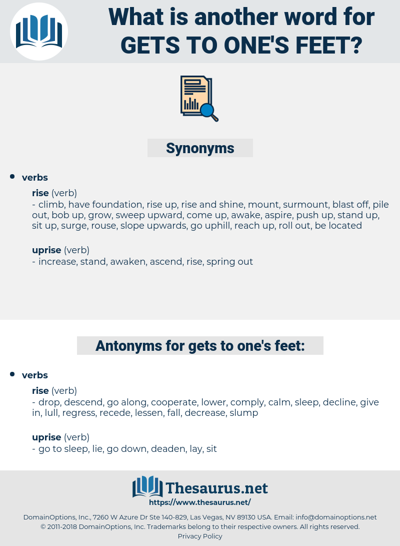 gets to one's feet, synonym gets to one's feet, another word for gets to one's feet, words like gets to one's feet, thesaurus gets to one's feet