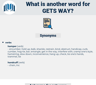 gets way, synonym gets way, another word for gets way, words like gets way, thesaurus gets way
