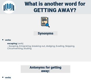 getting away, synonym getting away, another word for getting away, words like getting away, thesaurus getting away