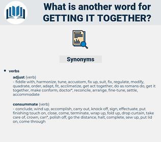 getting it together, synonym getting it together, another word for getting it together, words like getting it together, thesaurus getting it together