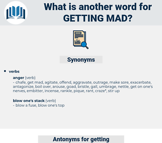getting mad, synonym getting mad, another word for getting mad, words like getting mad, thesaurus getting mad