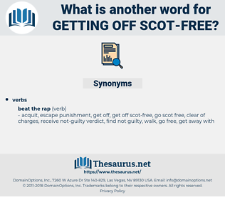 getting off scot-free, synonym getting off scot-free, another word for getting off scot-free, words like getting off scot-free, thesaurus getting off scot-free