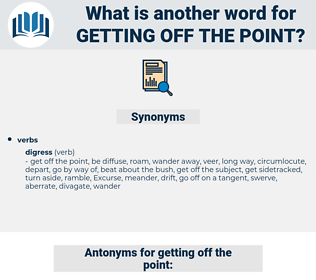 getting off the point, synonym getting off the point, another word for getting off the point, words like getting off the point, thesaurus getting off the point