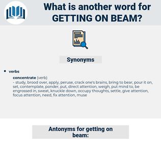 getting on beam, synonym getting on beam, another word for getting on beam, words like getting on beam, thesaurus getting on beam