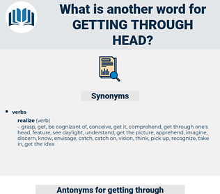 getting through head, synonym getting through head, another word for getting through head, words like getting through head, thesaurus getting through head