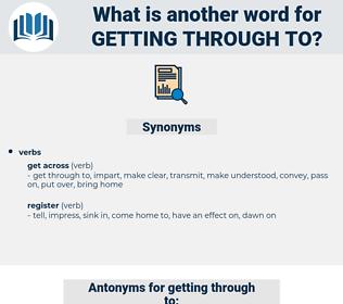 getting through to, synonym getting through to, another word for getting through to, words like getting through to, thesaurus getting through to