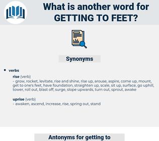 getting to feet, synonym getting to feet, another word for getting to feet, words like getting to feet, thesaurus getting to feet