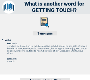 getting touch, synonym getting touch, another word for getting touch, words like getting touch, thesaurus getting touch