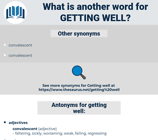 getting well, synonym getting well, another word for getting well, words like getting well, thesaurus getting well